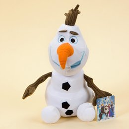 "18cm Olaf Plush Toy 7"" Cartoon Movie Dolls Stuffed Toy Dolls Snowman Kids Doll from 12 olaf snowman plush manufacturers"