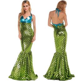 Wholesale Traje atractivo de Víspera de Todos los Santos de la mujer de la criatura del mar de la sirena del nuevo Backless atractivo para las mujeres un tamaño