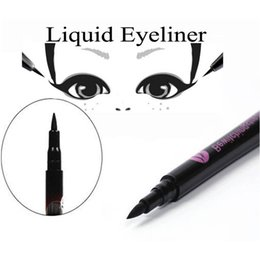 Wholesale 1 New Fashion Waterproof Black Eyeliner Liquid Eye Liner Pencil Pen Makeup Comestics