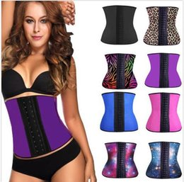 Wholesale Women Latex Rubber Waist Training Cincher Underbust Corsets Body Shaper Shapewear Waist Tummy Shaper Body Sculpting Slimming Free Ship DHL