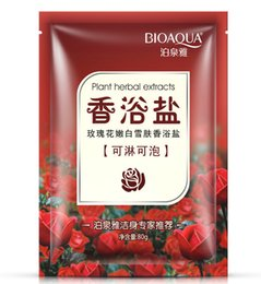 Wholesale roses detox decompression skin care bath salts body scrub massage salt soap whitening cleansers for the body scrub for the body