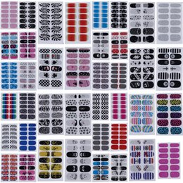 Wholesale 2015 Brand New Designer Nail Stickers Mixed Styles Nail Art Stickers Finger Nails Tips Decal DIY Decorations set ZZV