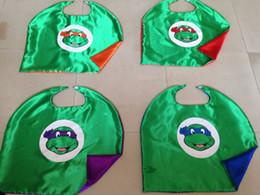 Wholesale 20pcs Kids Cartoon Capes Teenage Mutant Ninja Turtle capes Kids Capes Halloween Children Capes frozen capes