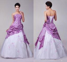 Wholesale 2015 de la moderna barato vestidos de quinceañera Debutante los vestidos de bola del Organza tafetán Pick Up bordado con cuentas vestidos de quinceañera