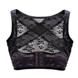 Wholesale 1 New Lace Elastic Posture Back Corrector Shoulder Support Chest Breast Supports Belt M L