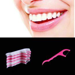 Wholesale 25pcs Dental Floss Interdental Brush Teeth Stick Toothpicks Floss Pick Propmotion