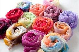 Wholesale 2014 NEW Arrival Colors Fashion Spring Women Long Voile Shawls Multicolor Scarves Price PWS023