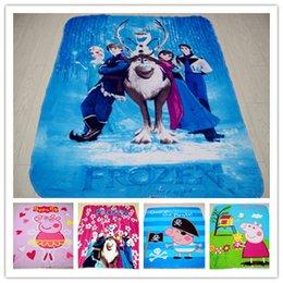 Wholesale New D Cartoon Frozen Elsa Anna Olaf blanket Peppa Pig pigs Minecraft polar fleece carpet mat the gift for children child baby