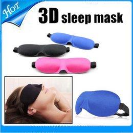 Wholesale 3D Sleep Rest Travel Eye Mask Sponge Cover Blindfold Shade Eyeshade
