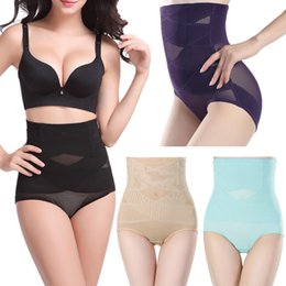 Wholesale Women Sexy Belly Hip Control Panties High Waist Body Shaper Seamless Underwear Corset Hot Shapers Shapewear Plus Size