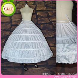 Wholesale Cheapest Wedding Dress Petticoat Hoops In Stock Adjustable Waist Size Underskirt Plus Size