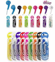 Gumy Gummy écouteurs HA F150 3,5 mm MP3 écouteurs écouteurs Aucun MIC coloré pour iPod iPhone iPad Samsung HTC