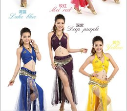 Wholesale Belly dance clothes costume set indian dance clothes tribal bellydance bra skirt colors