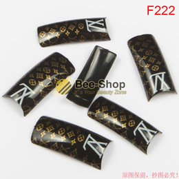 Wholesale 100pcs Hot selling Fashion attern red body design half cover french nail art tips acrylic half false nails art fake nail tips F222