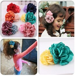 Wholesale new beautiful BB girls big flower clip hairpin baby girls hair pin clips baby headdress hair clip hair accesory no19