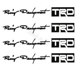 Горячая продажа 100set / серия TRD автомобилей Ручка двери наклейки для белые наклейки черный автомобиль персонализированные наклейки бесплатная доставка