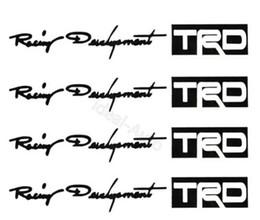 venta caliente 100set / lot de la puerta de coche TRD manija pegatinas para el blanco negro pegatinas de coches pegatinas personalizadas envío libre