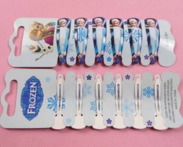 Wholesale vapes Girls Frozen Hairbands Cartoon Cute Anna Elsa Princess Frozen Hairpin Clips for GiftsHot Sale Children Frozen Hair Accessories
