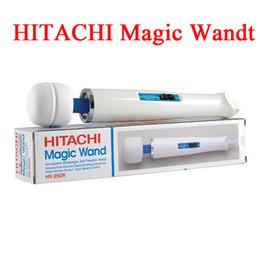 Wholesale 2015 Nueva llegada Hitachi Magic Wand Masajeador AV Vibrador Masajeador Personal masaje de cuerpo completo HV R con caja al por menor de los aviadores