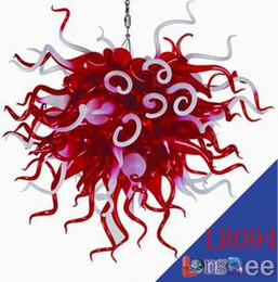 Wholesale-LR094--Free Shipping Large Murano Glass Chandelier Red  inexpensive red murano glass chandelier