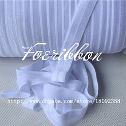 Wholesale quot fold over elastic white yards roll