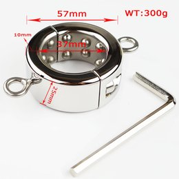 Wholesale Stainless Steel Ball Stretcher Can Add Weight Hangers Adult CBT Games Bondage Restraint NEW STYLE