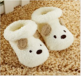 Wholesale 2016 New Arrival Toddler Baby Floor Socks Infant Cute Cartoon Shoes Newborn Winter Spring Shoes Babies Socks Colors Sizes For M Baby