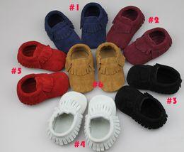Wholesale Baby Moccasins Soft Scrub Walkers Children Babies Boys Girls Scrub First Walker Shoes Toddle Shoes Kids Prewalker K006