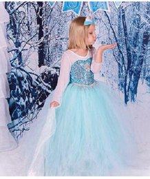 Wholesale Frozen dresses Children s dresses Girls dresses Summer Cinderella Princess Kids Cosplay Costume Dresses Europe and America style