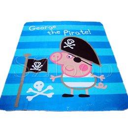 Wholesale Frozen Blanket PEPPA PIG bedding Printed Soft Blanket Cool refreshing comfortable Blanket for children kids blanket via DHL