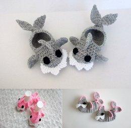 Wholesale Cartoon wool crochet baby toddler shoes Soft bottom CM newborns casual shoes Cheap children shoes baby wear pair