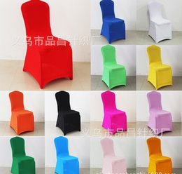 Wholesale Custom Made Romantic Chair Cover Wedding Party Anniversary Chair Sash Party Banquet Decorations spandex fabric Wedding Chair Cover