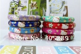 Wholesale FreeShipping by DHL Fedex Hello Kitty Bracelet Kids Enamel Bangle Cuff Bracelet Fashion Jewelry Gold Plated