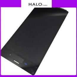 Expédition gratuite de DHL pour Sony Z2 Écran d'affichage à cristaux liquides Écran tactile Numériseur Assemblage Noir et blanc