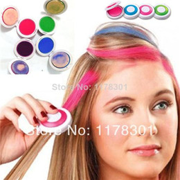 Hair Colors Hair Coloring women's 4 color/ set HAIR CHALK Temporary Hair Chalk Wash-Out Powder Hair Colour Hair Dye