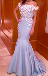 Wholesale 2016 Luxury Mermaid Prom Dressess Sequins Off The Shoulder Sleeves Prom Dresses Evening Wear Applique Floor Length