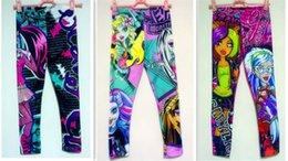 Wholesale 64pcs fashion new arrive Monster High Girls Leggings Zombie Girl Cartoon Kids Legging Pants Clothing Y Y D180
