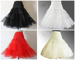 Wholesale 2015 Petticoat Knee length Cheap In stock Tulle Soft Charming Bridal Wedding Occasion Red White Ivory Black Perfect Cheap New