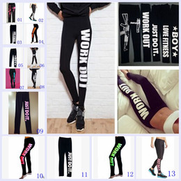 Wholesale 2015 color Work out printed cotton leggings low waist nine minutes pencil pants women winter leather galaxy leggings tights BBB2819
