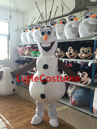 Wholesale Dark Mouth Olaf Frozen Snowman mascot costume Hot Sale dress carnival New Professional custom made New custom Promotion
