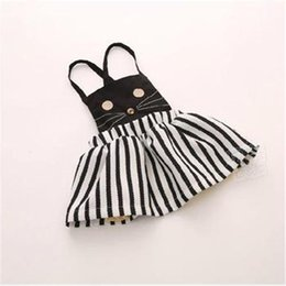 Wholesale children dresses Hot sale child clothing Casual baby girl clothing kitty Summer autumn cat dress Korean girl dress