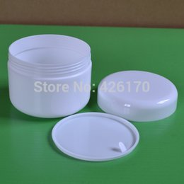 Wholesale 250g White Plastic Cosmetic Jar Empty Lotion Container Refillable Jar Eyecream Box High End Jars Freeshipping