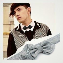 Wholesale Men s Bowtie Tuxedo Shirt Suit Dress adjustable bowtie Pre tied unisex bowtie For Weeding Party bLACK GRAY