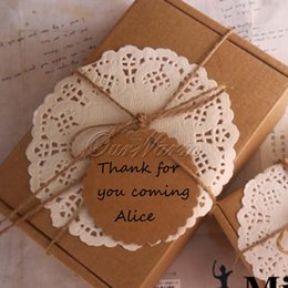 Wholesale 100Pcs Brown Blank Kraft Paper Tags Wedding Bonbonniere Favour Gift Tags Cards With Twines Hanging Price Label Wholesales SQ