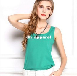 Wholesale 2015 Summer New European style plus size Women Clothing Loose Fashion Chiffon Tank Tops Vest Shirts