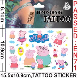 Wholesale Pink piggy children Cartoon Waterproof Tattoos Minecraft Frozen Temporary Tattoos Sticker cmx10 cm Body Tatoo free shiping