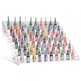 Wholesale 6 Tier Clear Acrylic Display Stand Holder Case Tattoo Ink Makeup Cosmetics
