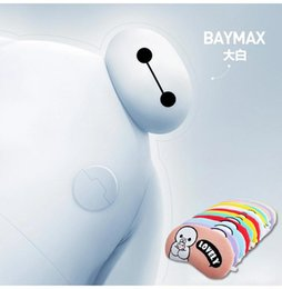 Wholesale 2015 HOT summer hot Baymax white eye mask to eliminate eye swollen ice cold shading cloth patch of sleep