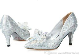 Wholesale Red cm cm High Heel Wedding Shoes Glitter Crystal Heel Party Prom Shoes Bridal Dress Shoes Bridal Party Black Bridesmaid Dresses Shoes