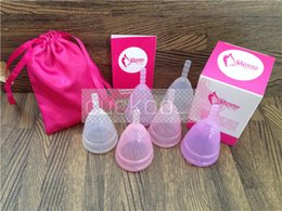 Wholesale 2014 HOTSALE platinum medical silicone menstrual cup for lady with sizes and three colors